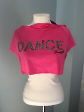 Pineapple Pink Crop Top for Dance/Jazz/Gym/Yoga/Pilates - size medium adult