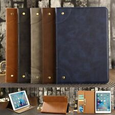 Folio Retro Wallet Leather Stand Smart  Sleep/Wake up Case Cover For Apple iPad