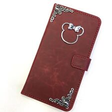Minnie Mouse Wallet Leather Flip Handmade Stand Case For Samsung Mobile Phone