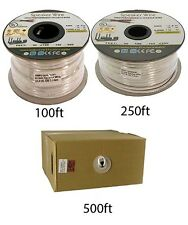 100ft-500ft 14AWG/2 Conductor UL CL2 In-Wall Home Car Audio Speaker Wire Cable
