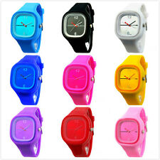 NEW Fashion Women Men Candy Color Jelly Silicone Sport Unisex Quartz Wrist Watch