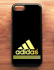 Adidas Logo Gold Strippes Cool For iPhone 7 7+ Print On Hard Plastic Case NEW