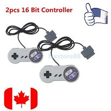 2PCS 16 Bit Controller for Super Nintendo SNES System Console Control Pad ~#BE