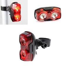 Bicycle Cycling 2 LED Safety Water Resistant Bright Tail Light Bike Rear Light