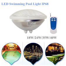 Par56 LED Swimming Pool Light 18W 24W 35W 40W RGB Blue Green Warm White Yellow