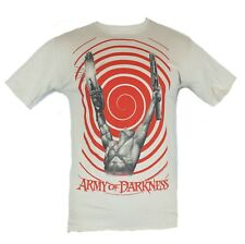 Army of Darkness Mens T-Shirt - Ash Hypno- Swirled Victorious Muscle Pose