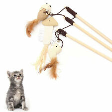 Funny Kitten Play Interaction Toy Cat Teaser Wand Assorted Linen Mouse Toy BE