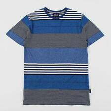 Patagonia Daily Men's Soft Feel Cotton Tee T Shirt Fitz Stripe Channel Blue