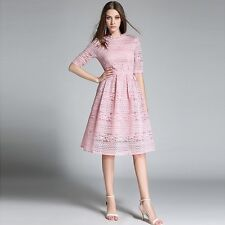 Women's Temperament Lace Hollow Out Casual Slimparty Dresses