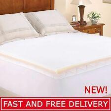 """Memory Foam Mattress Topper 1.5"""" Twin Full Queen King Size Bed Combo Toppers Pad"""
