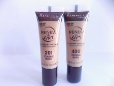Rimmel Renew and Lift Smoothing Concealer in Natural Beige 400/Classic Beige 201