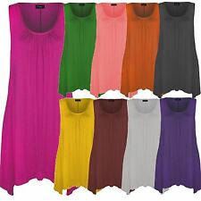 New Ladies Plus Size Uneven Hanky Hem Fitted Tunic Top 16-26