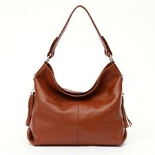 Woman Soft Real Genuine Leather Tassel  Handbag Shoulder Tote Messenger Bag