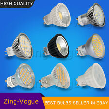 4/5/6/7/8W LED GU10 MR16 Bulbs SMD COB Light Dimmable Day Warm White Lamps CE UK