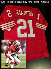 NEW HARD 2 FIND Deion Sanders San Francisco 49ers Men's Home Throwback Jersey