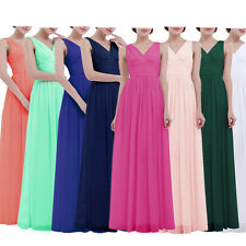 New Long Chiffon Formal Prom Bridesmaid Dress Evening Party Cocktail Ball Gowns