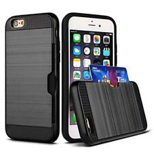 Hard Hybrid Tpu Armor Case Cover With Card Slot Holder for IPhone 7/7 Plus