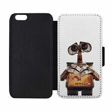 Wall-E Movie Leather Wallet Flip Phone Case Cover Apple iPhone 5 5S 6 6S 7 Plus