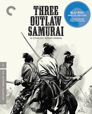 Three Outlaw Samurai (Blu-ray Disc, 2012, Criterion Collection) LIKE NEW
