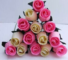 Mothers Day Flowers Gift4Mum Cream&Baby Pink Wooden Roses Car Boot+Cream Grasses