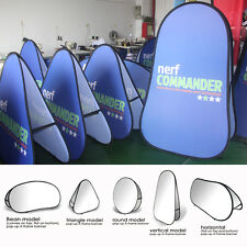 Custom Pop Up A-Frame Double-sided Banners Shop Door Welcome +Hardware included