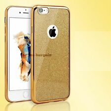 Electroplated Glitter Shockproof Chrome Bumper Protective  Cover  iPhone 5 6 7
