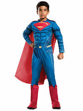 Superman Vs Batman Deluxe Muscle Chest Superhero Dawn of Justice Boys Costume