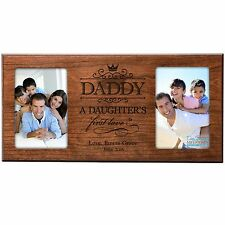 Personalized-Fathers-Day-Wood-Picture-Frame-Gift-For-Dad-4x6-Photo-Free-Shipping
