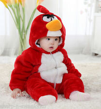 ANGRY BIRDS Boys Girls Thick Snowsuit Coat Fancy Dress Costume Outfit 9mths-5yrs