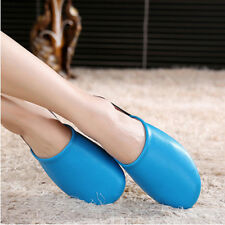 Women Luxury Indoor/Outdoor Flats Shoes Cow Leather Closed Toes House Slippers