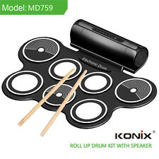 Multi-function MIDI Hand Drums USB Jazz Electronic Drum Pad Kit w/External Sound