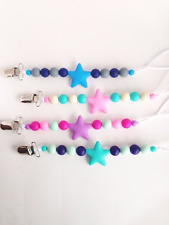 Star Silicone Pacifier Clip Silicone Paci Clip Baby Pacifier Holder Teether
