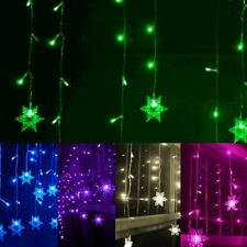 3.5M 220V Snowflake LED Lamp String Curtain Lights Holiday Xmas Wedding Decor
