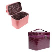 PU Leather Cosmetic Train Vanity Case Makeup Toiletry Storage Jewellery Pouch