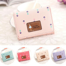 Fashion Women Leather Bifold Wallet Clutch Card Holders Purse Lady Short Handbag
