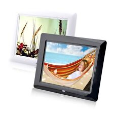 "8"" High TFT-LCD HD Digital Photo Movies Frame Alarm Clock MP3 MP4 Player BA"