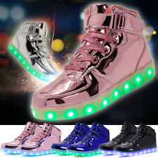 Xmas Gift 7 Color Kids LED Light Up Luminous Shoes Boys Girls USB Casual Sneaker