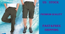 Outdoors Mens Cycling Hiking Shorts&Pants Removable Knee Breathable Quick-drying