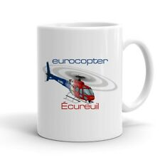 Eurocopter AS350 Ecureuil (Red/Blue) Helicopter Ceramic Mug - Personalized with