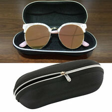 Portable Fiber Zipper Eyewear Case Glasses Sunglass Shell Protector Box BG
