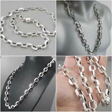 HUGE HEAVY LINKS CLASSIC CHAIN 925 STERLING SILVER MENS NECKLACE 20 22 24 26 30""