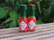 MINATURE 1.8FL OZ 3.7ML RED TABASCO SAUCE RATIONS PACKS MRE BUSHCRAFT SURVIVAL