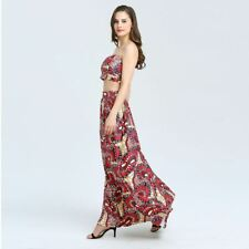 Women Multicolor Vintage Tribal Print High Waist Floor Long Maxi Skirt
