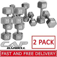 CAP Barbell Pair Dumbbells Set of 2 Cast Iron Weights Workout Fitness Home Gym