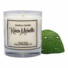 Fresh Rain Scented Massage Oil Candle - Destiny Candle with Jewelry