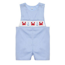 Hand Smocked Crab and Anchor shortall NEW  6m - 3t *jon jon boutique *