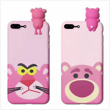 Pink Panther&Strawberry bear Cover Case Skin For iPhone 6/6S Plus iPhone7 Plus