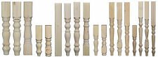 Set of 4 Solid Pine Bench & Table Legs 425mm & 736mm long, 55, 69, 88 & 115mm