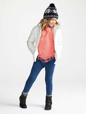 NWT Old Navy Girls Girls Frost Free Hooded Jacket XS (5) White $49.99 Coat