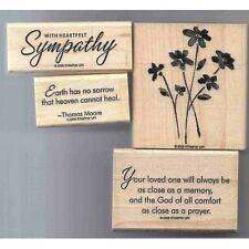 Stampin' UP! Retired Wood Mounted Stamp Sets